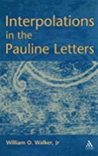 Interpolations in the Pauline letters by…