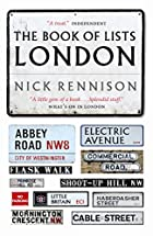 The Book of Lists: London by Nick Rennison