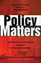 Policy matters : economic and social…