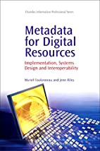 Metadata for Digital Resources:…