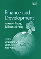 Finance And Development: Surveys Of Theory,…