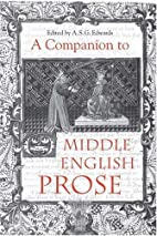 A Companion to Middle English Prose by…
