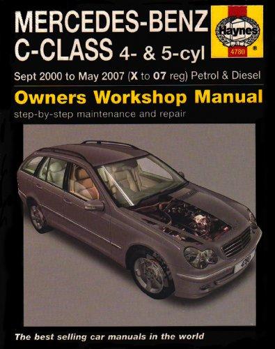 mercedes-benz-c-class-petrol-and-diesel-service-and-repair-manual-2000-to-2007-haynes-service-and-repair-manuals