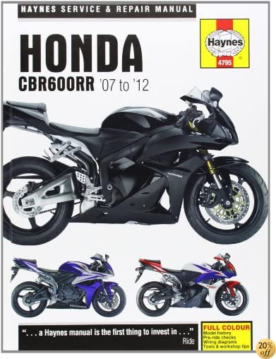 Honda CBR600RR Service and Repair Manual: 2007-2012 (Haynes Service and Repair Manuals)