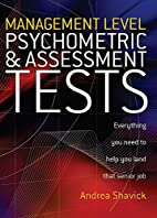 Management Level Psychometric and Assessment…