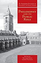 Philosophy and its public role essays in…