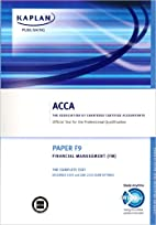 ACCA F9 Financial Management FM: ACCA paper…