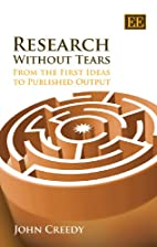 Research Without Tears: From the First Ideas…