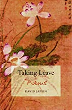 Taking Leave : poems by David Jaffin