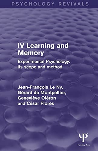 experimental-psychology-its-scope-and-method-volume-iv-learning-and-memory