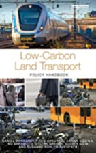 Low-carbon land transport : policy handbook…