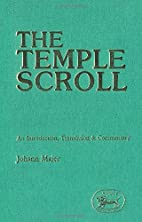 The Temple Scroll: An Introduction,…