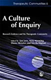 Manning, Nick: A Culture of Enquiry: Research Evidence and the Therapeutic Community