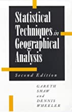 Statistical Techniques in Geographical…