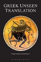 Greek Unseen Translation by John Taylor