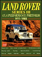 Land Rover Series III: 4x4 Performance…