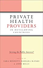 Private Health Providers in Developing…