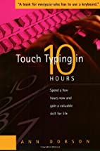 Touch Typing in Ten Hours by Ann Dobson