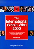 International Who's Who 2000 by 3rd Ed