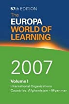 The Europa World of Learning 2007 by Driss…