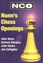 Nunn's chess openings by John Nunn