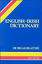 English-Irish Dictionary by Tomás de…