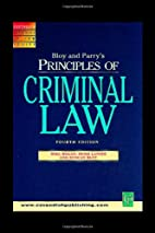 Principles of Criminal Law (Principles of…