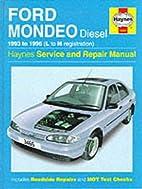 Ford Mondeo Diesel Service and Repair Manual…