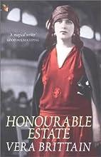 Honourable Estate by Vera Brittain