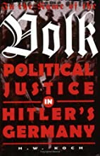 In the Name of the Volk: Political Justice…