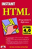 Homer, Alex: Instant HTML Programmer&#39;s Reference