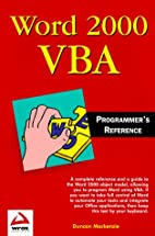 Word 2000 VBA Programmers Reference by…