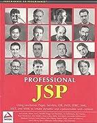 Professional JSP : Using JavaServer Pages,…