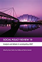 Social Policy Review 19: Analysis and Debate…