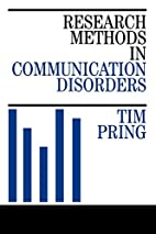 Research Methods in Communication Disorders…