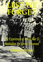 Lest We Forget Pb by Robert N. Murray