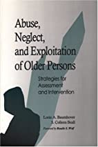 Abuse, Neglect, and Exploitation of Older…