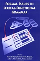Formal Issues in Lexical-Functional Grammar…