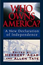 Who Owns America: A New Declaration of…