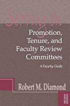 Serving on Promotion, Tenure, and Faculty…