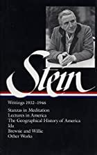 Stein: Writings 1932-1946: 1932-1946, Volume…