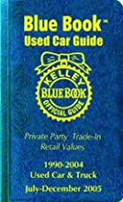 Kelley Blue Book Used Car Guide: Consumer…