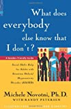 Petersen, Randy: What Does Everybody Else Know That I Don'T?: Social Skills Help for Adults With Attention Deficit/Hyperactivity Disorder (Ad/Hd) a Reader-Friendly Guide
