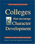 Colleges That Encourage Character…