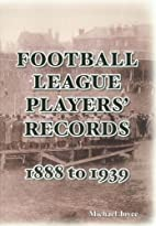 Football League Players' Records…