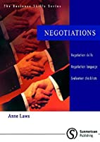 Negotiations (Business Skills S.) by Anne…