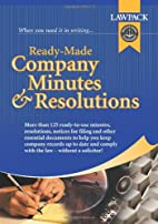 Ready Made Company Minutes and Resolutions…