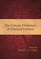 The Concise Dictionary of Classical Hebrew…