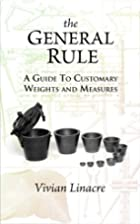 The General Rule: A Guide to Customary…