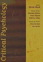 Critical Psychology by Derek Hook
